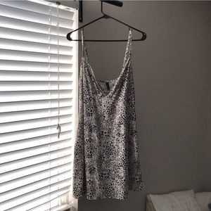 Animal print slip dress